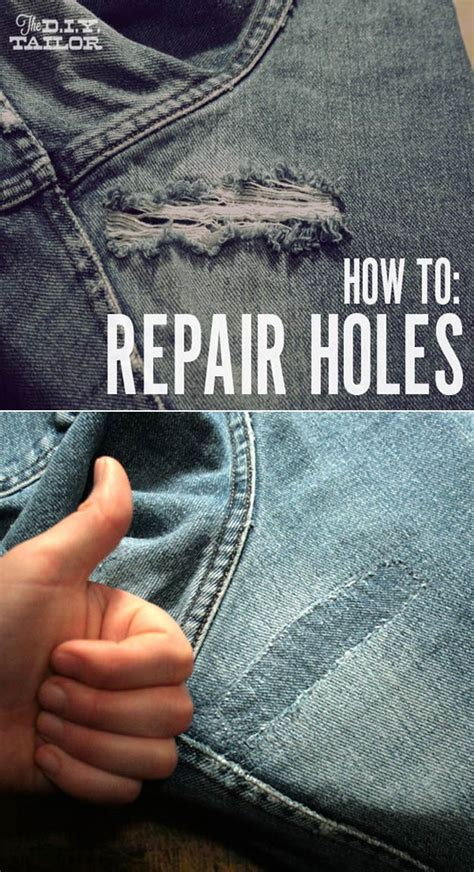 How To Cover A Hole In Pants by 31 Diy Hacks For Fixing Ruined Clothes