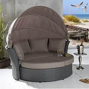 Lounge Liege Garten : poly rattan sonneninsel terrassen strandkorb garten lounge liege strandmuschel ~ Watch28wear.com Haus und Dekorationen