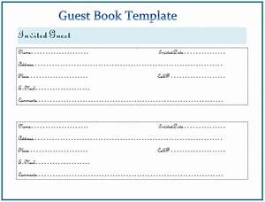 guest book template free word templates With visitors book template free download