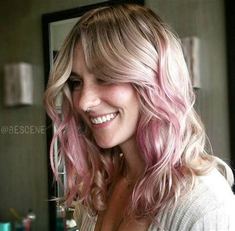 Ombre Pink Hairstyle For Blonde Hair Styles Weekly