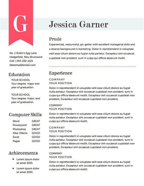18207 free creative resume template the world s catalog of ideas