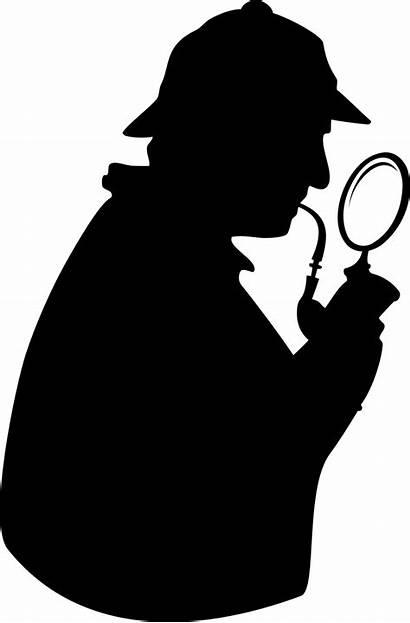 Detective Magnifying Glass Silhouette Clip Publicdomainfiles Domain