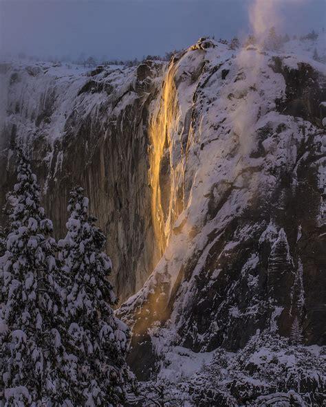 Firefall Lights Yosemite National Park Los Angeles