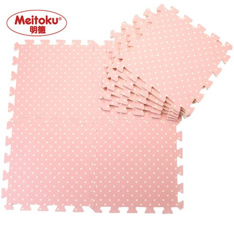 foam floor mats big w meitoku foam puzzle mats pink dots child floormat baby