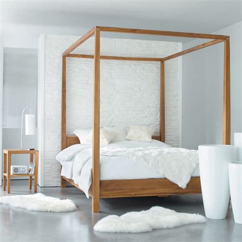 acacia    king size  poster bed amsterdam maisons du monde