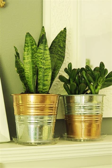 planter des glaieuls en pot ikea hack diy copper galvanized planter pots