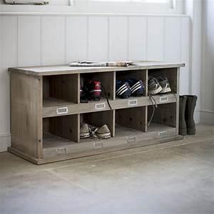 Banc Pour Dressing : meuble chaussures en bois d 39 pic a 8 compartiments ~ Teatrodelosmanantiales.com Idées de Décoration
