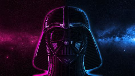 Star wars darth vader and stormtrooper illustration, low poly. 1920x1080 Darth Vader Typography Laptop Full HD 1080P HD 4k Wallpapers, Images, Backgrounds ...