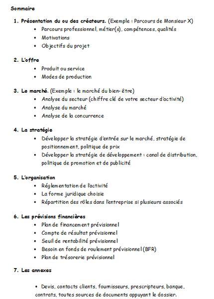 modèle plan d mod 232 le type de business plan plan d affaire modele
