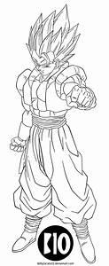 Super Gogeta DBZ Dokkan Battle LineArt by BillyZar on ...