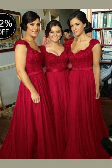 Burgundy Bridesmaid Dress #BurgundyBridesmaidDress ...
