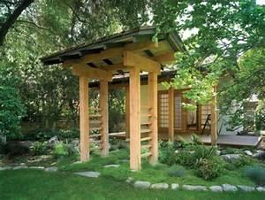 Gartenhäuschen Aus Holz : japanischer garten inspiration f r eine harmonische gartengestaltung ~ Markanthonyermac.com Haus und Dekorationen