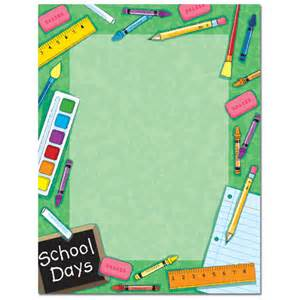school days green border paper your paper stop