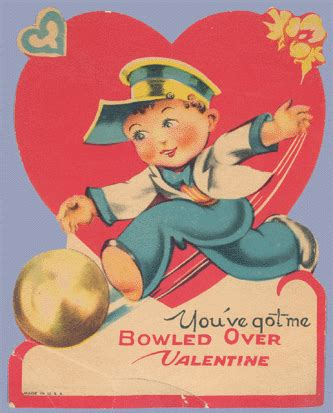 Vintage Valentine Museum Bowled Over By Bowling Valentines