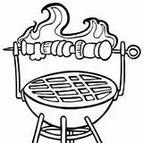 Grill Coloring Template Pages Surfnetkids sketch template
