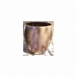 Pot En Terre Cuite émaillée : pot en terre cuite maill e stone platine d30 h19 ~ Dailycaller-alerts.com Idées de Décoration
