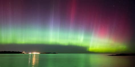 a time lapsed of the northern lights for three