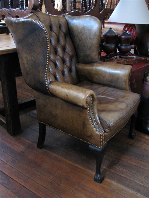leather chair leather wingback chairs for sale