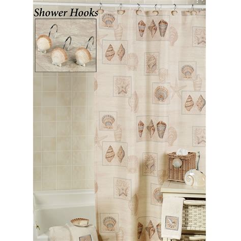 seashell shower curtain shower curtains seashells simple home decoration