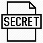 Classified Document Secret Icon Security Outline Data
