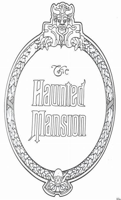 Haunted Mansion Disney Coloring