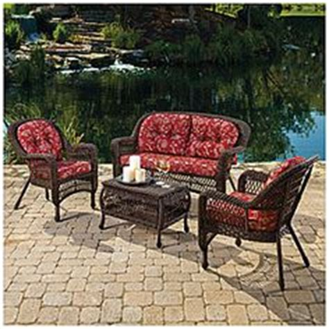 wilson fisher 174 resin wicker 3 cushioned