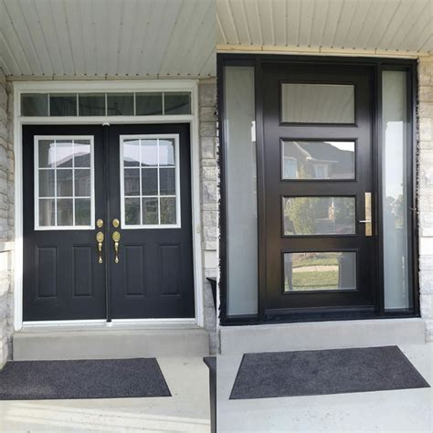 modern exterior door with multi point locks 4 door lites