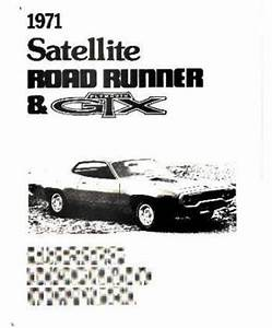1971 Plymouth Road Runner  U0026 Satellite Wiring Diagrams
