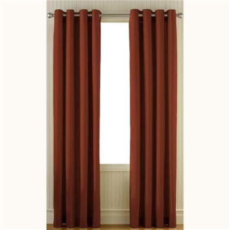 Curtain Grommet Kit Home Depot by Curtainworks Sailcloth Cinnabar Cotton Canvas Grommet