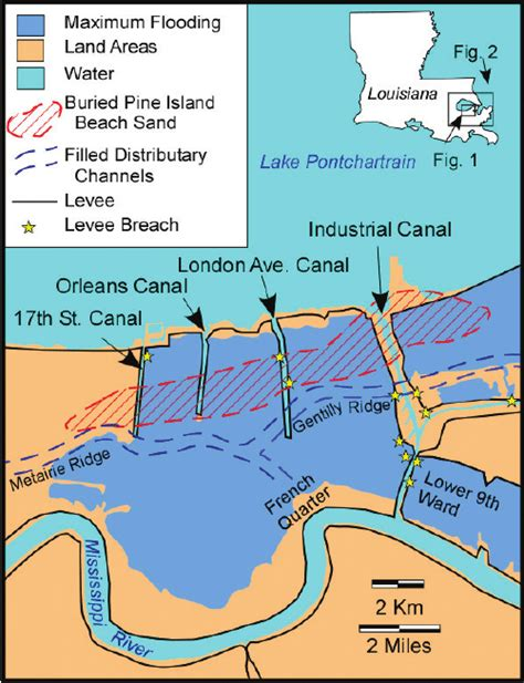 Published on april 25, 2018april 25, 2018 by cwppra. Map of the New Orleans area showing the maximum extent of ...