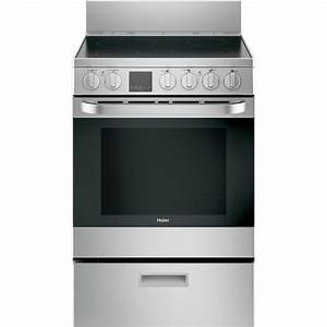 Haier 24 In  2 9 Cu  Ft  Electric Range With Self