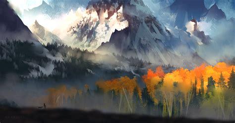 Digital Scenery Wallpaper by 1920x1080 Landscape Scenery Moutain Autumn Digital 5k