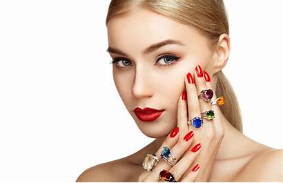 Woman Jewelry Portrait Wallpapers Face Hand Rings