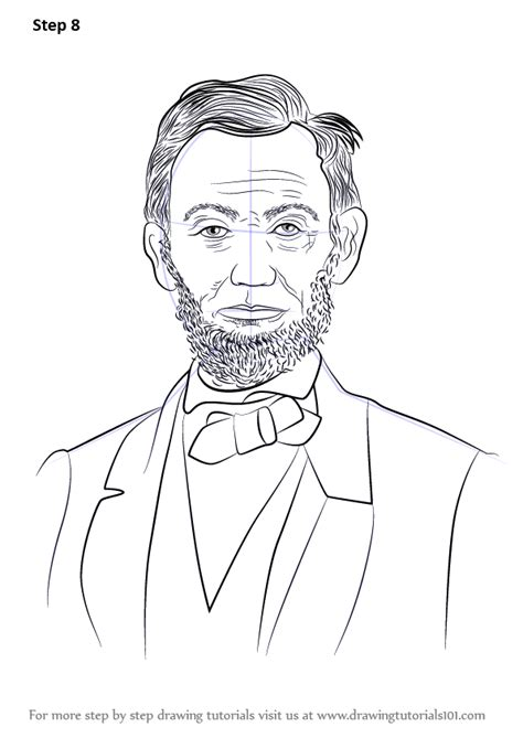 Learn How To Draw Abraham Lincoln Politicians Step By