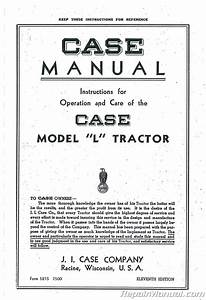 Case L Owners Operators Manual