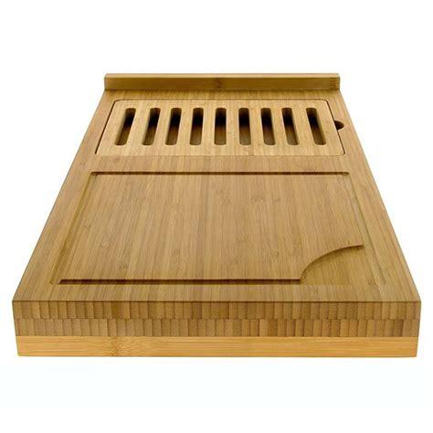 planche de travail cuisine planche de travail amovible en bambou avec planche à