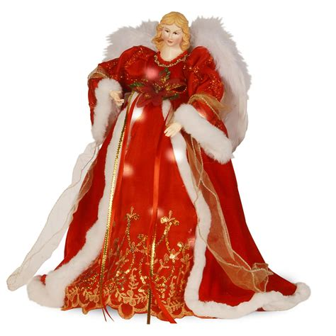 pre lit christmas angel tree topper red hayes garden world