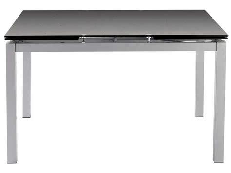 table tokyo 3 extensible plateau verre coloris noir sur conforama fr maison table table