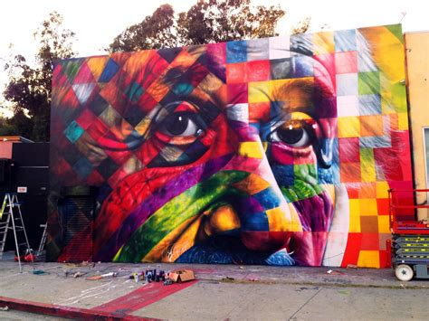 brazilian street artist kobra is back in la art nerd