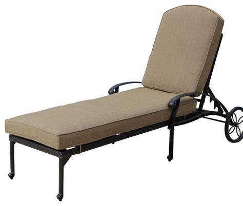rosedown cast aluminum patio chaise lounge transitional