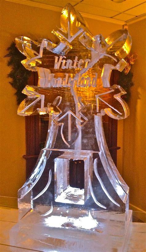 winter wonderland snowflake ice luge ice sculptures