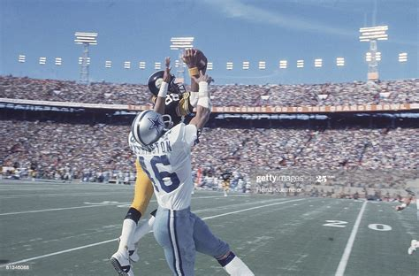 Super Bowl X Pittsburgh Steelers Lynn Swann In Action Vs