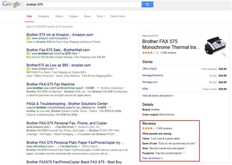 Google Showing Reviews Snippets About Products In ...