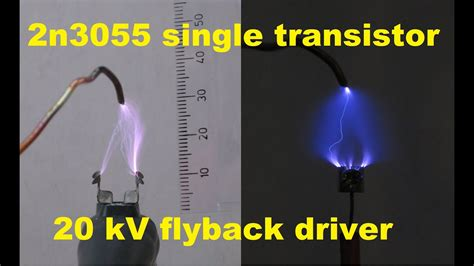 2n3055 single transistor high voltage flyback driver making loud sparks youtube