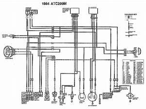 Wiring Diagram Honda Atc200m 1984  61520