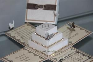 lace wedding invitations bling wedding invitations With pop up box wedding invitations