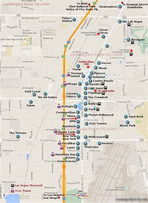 ideas  las vegas strip map  pinterest