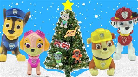 paw patrol magic christmas tree surprise holiday ornaments