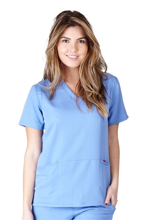 ceil blue scrubs womens ultra soft scrubs womens two pocket scrub top ceil blue