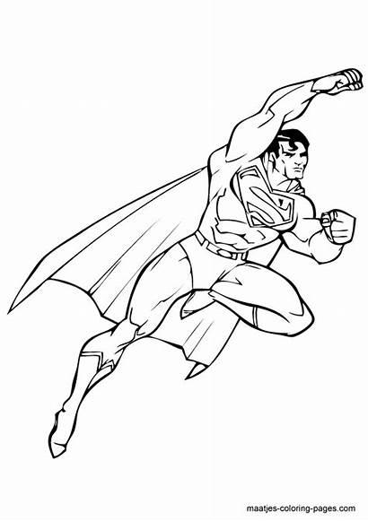 Coloring Superman Pages Superheroes Printable Kb Drawings